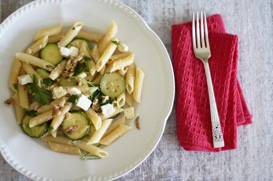 Penne with zucchini, chilli flakes and feta cheese: Feta Cheese, Chill Flakes, Chilli Flakes, Multi Grains Pasta, Chilis Flakes, Toast Walnut, Inner Foodies, Penne Pasta, Veggies Night