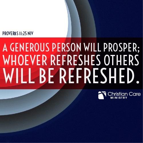 Proverbs 11 25 Niv Quot A Generous Person Will Prosper
