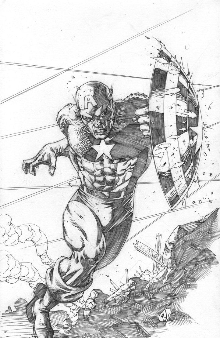 Captain america pencils by on