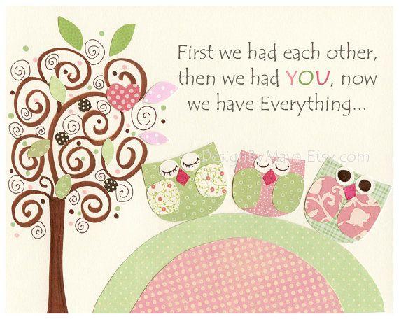 Nursery wall art Baby girl room decor Owls kids by DesignByMaya   17 00. 248 best Baby Girl Nursery Rooms images on Pinterest   Baby girl