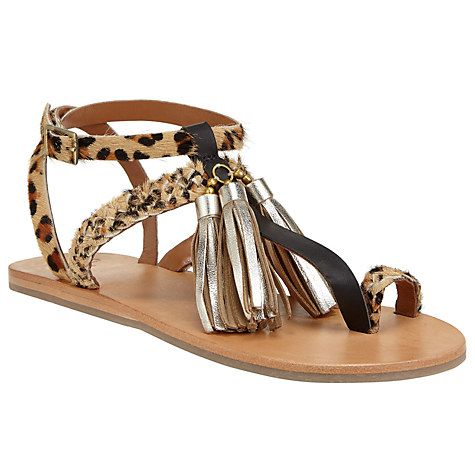 Buy AND/OR Levina Tassel Toe Post Sandals, Multi Online at johnlewis.com