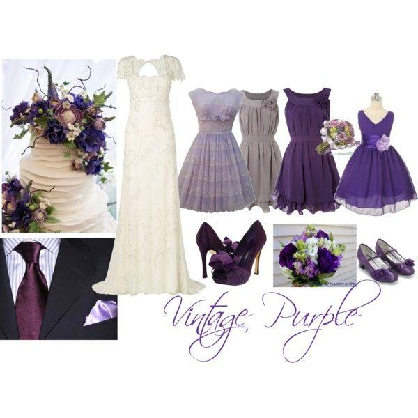 Vintage Purple Wedding - love the purple and gray dress