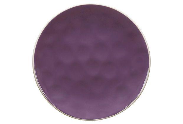 S/4 Krinkle Side Plates, Purple on OneKingsLane.com