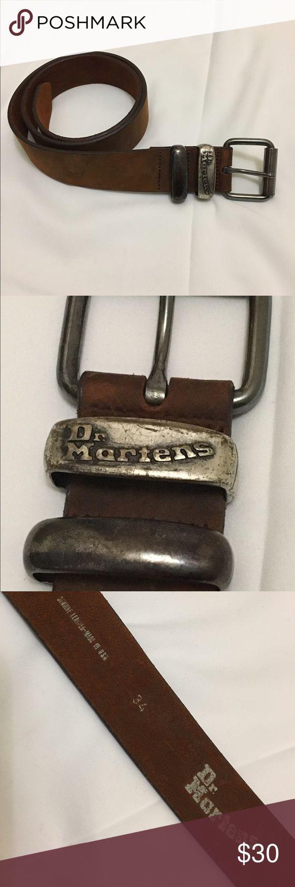 Dr Martens brown leather men belt Size 34 waist Dr Martens Accessories Belts