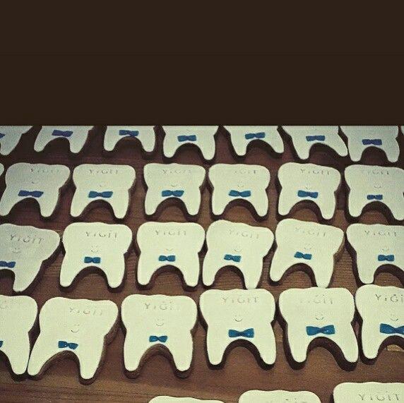 Seker hamuru kurabiye diş pastası