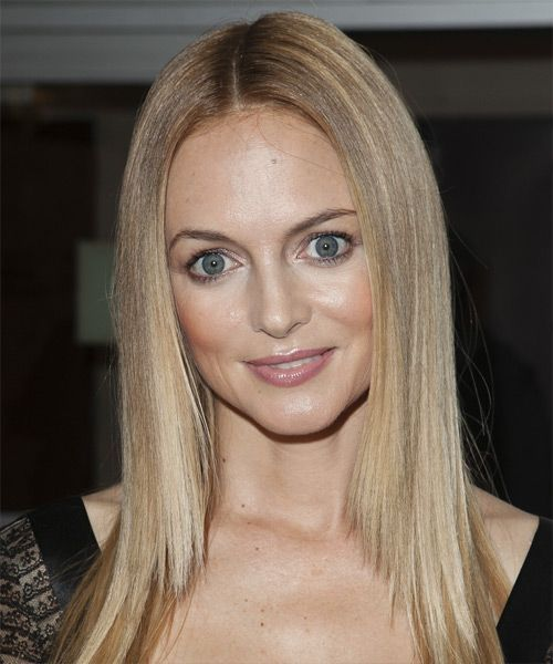 Heather Graham Long Straight Formal Hairstyle – Ash Blonde Hair Color