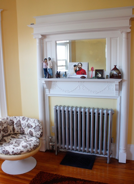 radiator done as fireplace