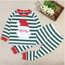 Boys Christmas Pajamas Clothes Sale 2016 Cartoon Kids Pajama Set Children Sleepwear Nightwear Family Toddler Baby Pyjamas(China (Mainland))