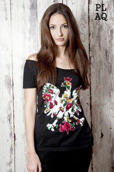 T-shirt koszulka PL Flower White