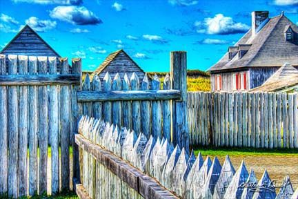 One of endless photo compositions within the Fortress of Louisbourg, Cape Breton, Nova Scotia.