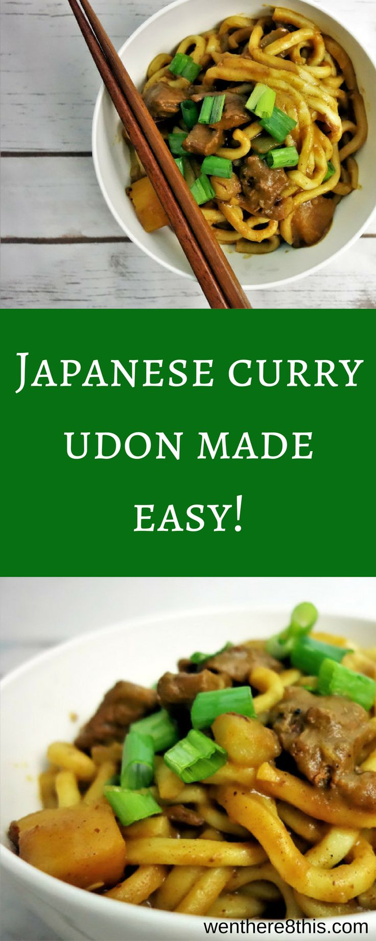 Learn how to make this Japanese Beef Curry Udon (Kare Udon) - it's the perfect comfort food!  Japanese food, comfort food, curry, japanese curry udon recipe, curry recipe, Japanese curry udon soup, Japanese curry udon