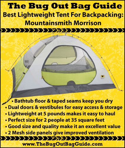 How To Choose The Best Lightweight Tent For Bugging Out