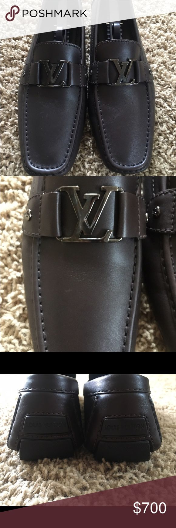 Louis Vuitton Men's Leather Loafers Brown