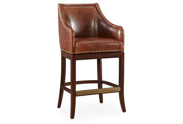 Manchester Leather Swivel Stool Saddleokl 600 Furniture