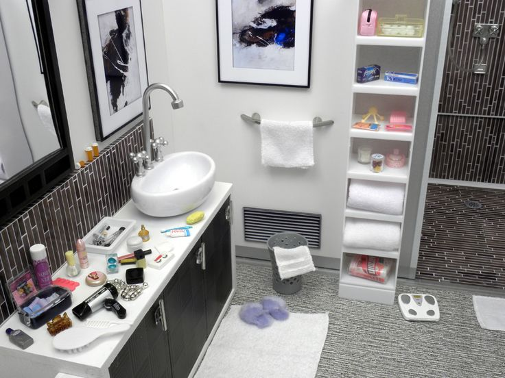 how to make dollhouse bathroom furniture