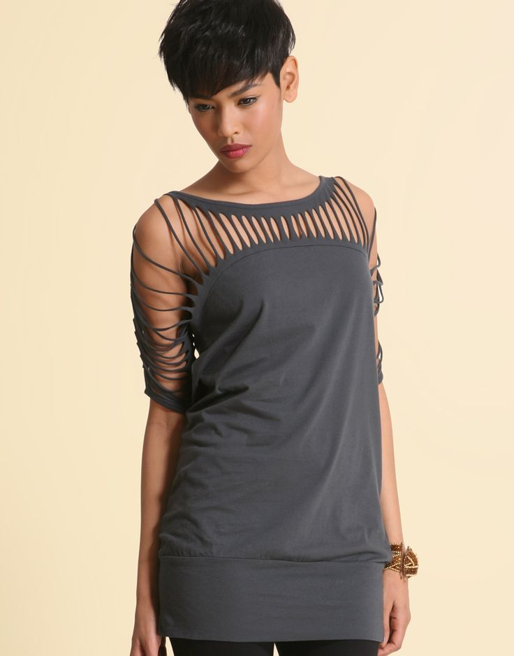 DIY Cut T-Shirt Designs | The picture below is from a Lookbook. nu it is a DIY Vera Wang shirt ...