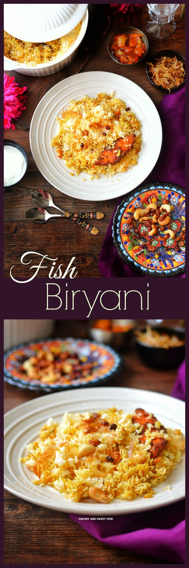 This fish biryani will be loved by both fish lovers and haters. A dish that would be perfect for a family gathering or just to enjoy your weekend with your loved ones.