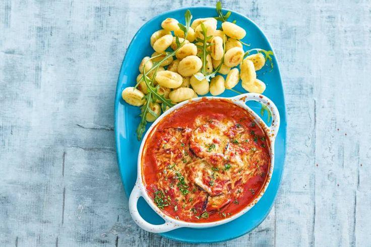 Kijk wat een lekker recept ik heb gevonden op Allerhande! Gnocchi met romige aubergine al formaggio
