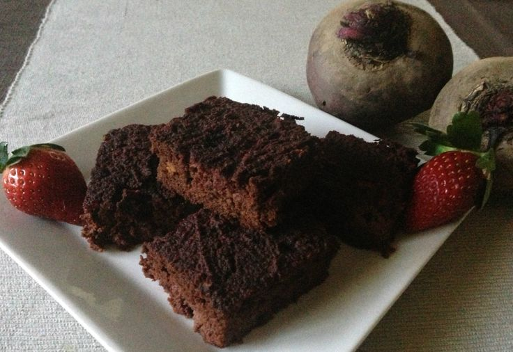 Paleo Beetroot Strawberry Brownies.  Recipe from: http://www.whatrunslori.com/2012/05/cant-beet-em-paleo-strawberry-brownies/