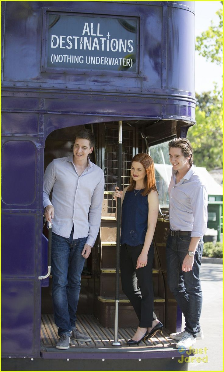 bonnie wright james oliver phelps diagon alley universal