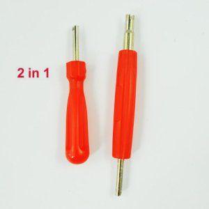 TOOGOO(R) 2 en 1 Outil de reparation pour noyau de valve de pneu double tete unique