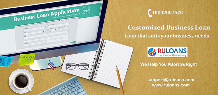 Grow your business with our customized loan solution! Get a #BusinessLoan now! For more details visit - https://www.ruloans.com/business-loan #Ruloans #BorrowRight