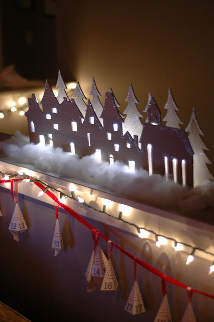 cardboard village. There's no way mine would look like this. But so pretty!