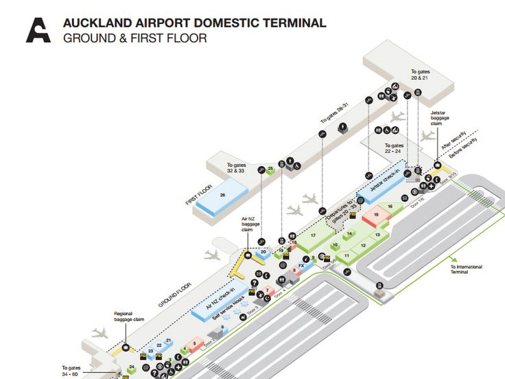 Maps of Auckland Airport, facilities and directions are available below as PDF files viewing, downloading and printing.