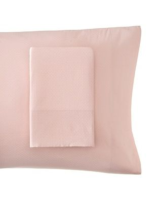 56% OFF Coyuchi Set of 2 Pointille Pillowcases (Washed Rose)