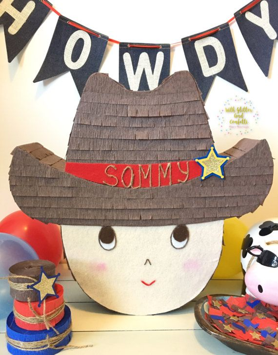 Mini piñata cumpleaños vaquero cumpleaños niño Rodeo