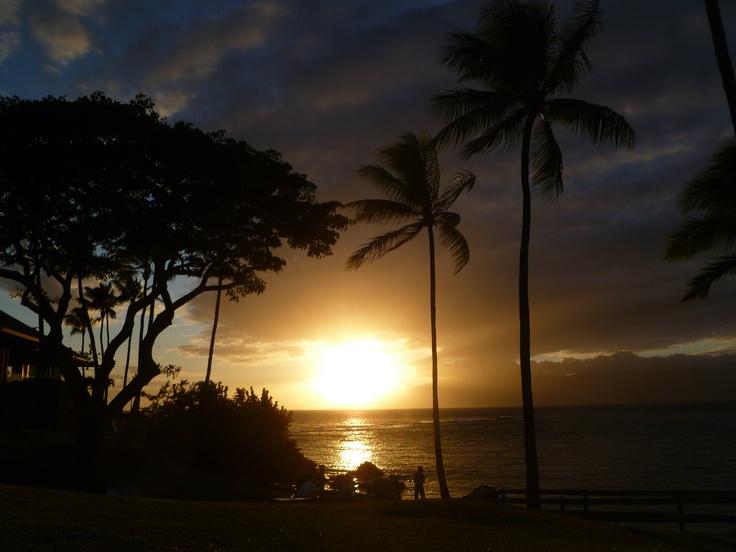 Sunset over Molokaʻi - Maui, Hawaii