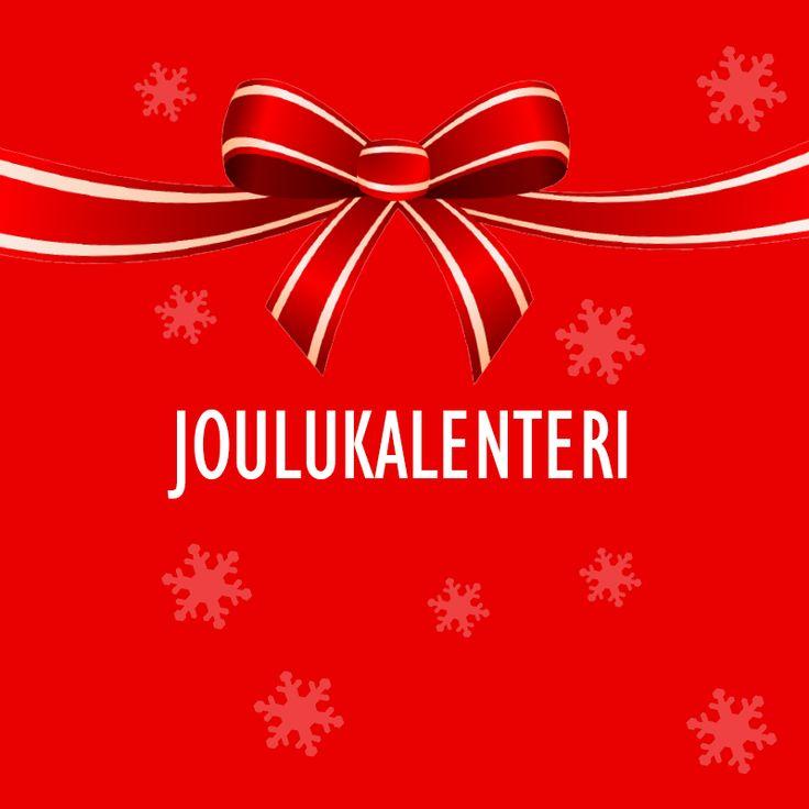 Joulukalenteri löytyy FB-sivuiltamme. Tykkää sivuistamme ja pääset osalliseksi huikeita yllätyksiä!