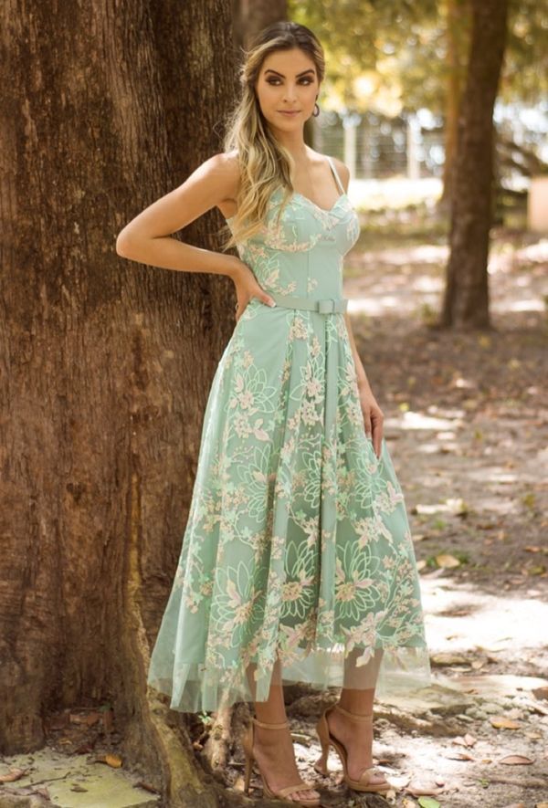 2ba081fab vestido de festa midi madrinha | Dress-up Formal em 2019 | Dresses ...