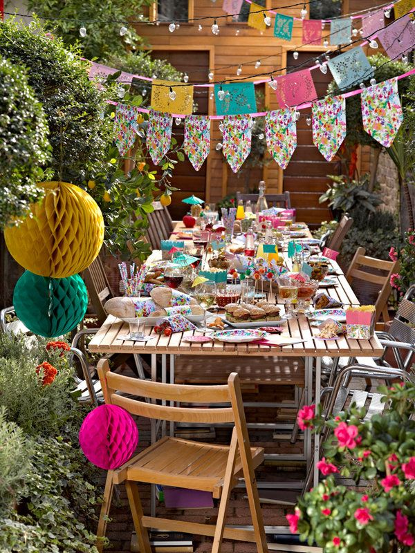 #Fiesta infantil en el #jardin