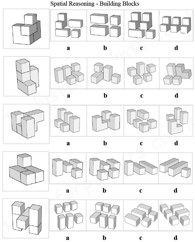 11 Plus Key Stage 2 11 Plus Spatial Reasoning 3d Shapes Building Blocks With This Type Of Question You Are Given A 3 Cogat This Or That Questions Spatial