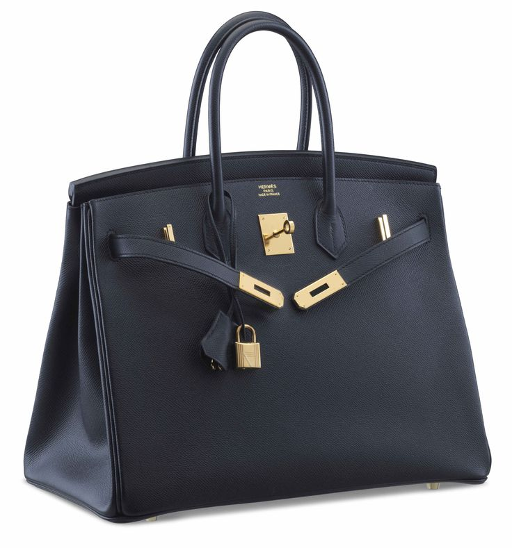 "A BLACK EPSOM LEATHER BIRKIN 35 BAGHERMÈS, 2016Gold Hardware, interior is Black Chevre Leather. Includes lock, keys, clochette, clochette dustbag, dustbag, raincoat, care book, and box.14"" W x 10"" H x 7"" DBlindstamp X"