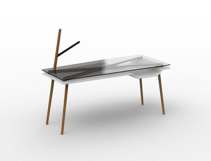 Bé // minimal desk + lighting by Studio Woy