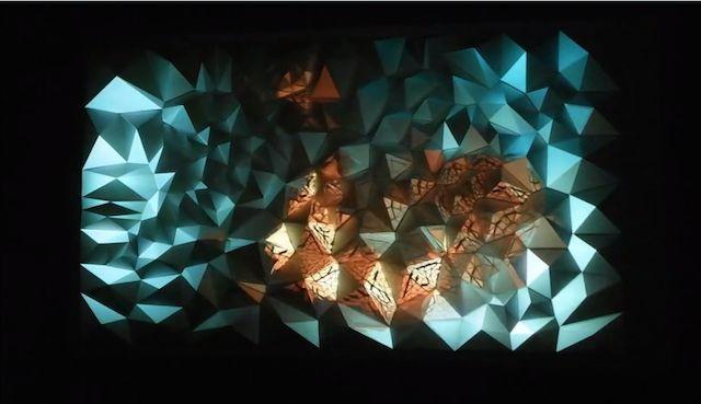 Quand l'origami rencontre le light art | The Creators Project