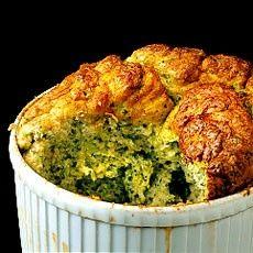 Delia Smith's Broccoli Souffle with Three Cheeses Recipe
