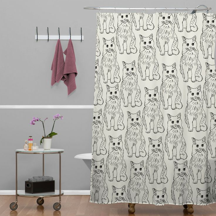 cat shower curtain for my cat lover friends - subtle and quirky! # ...