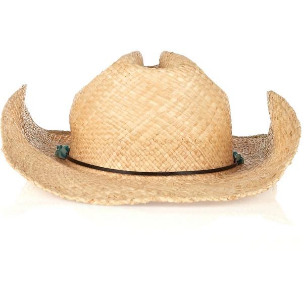 Melissa Odabash Stetson straw hat ($50) ❤ liked on Polyvore