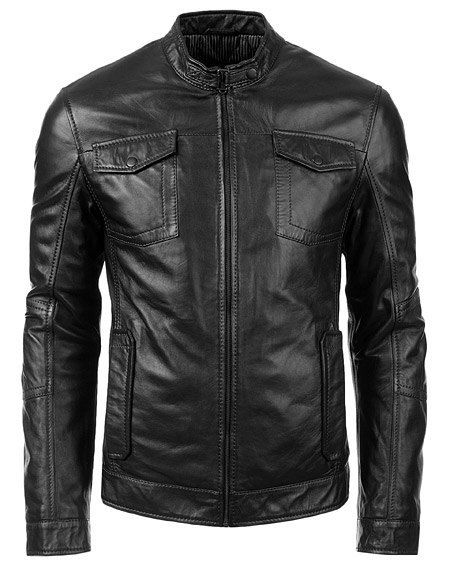 Handmade Men leather jacket men black by customdesignmaster, $149.99