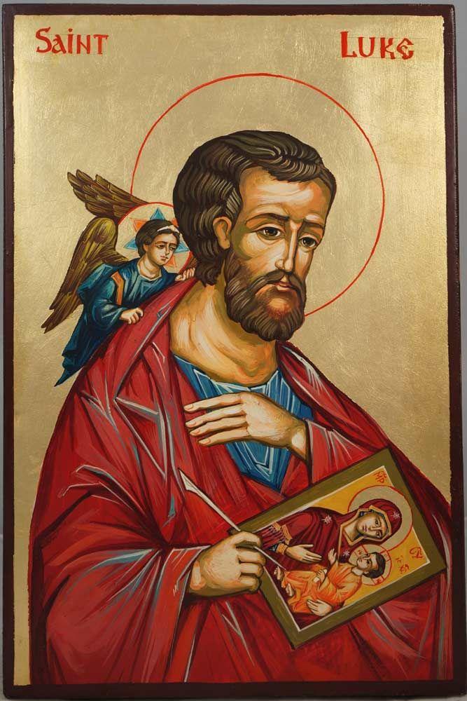 Apostle Luke the Iconographer Hand-Painted Byzantine Icon