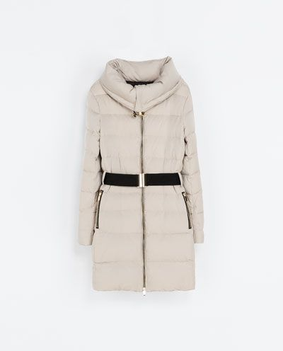 Image 6 of PUFFER JACKET WITH WRAPAROUND COLLAR from Zara