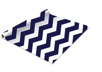Navy Chevron Contact Paper/Shelf Liner  18 x 5' by TimeSavors, $5.99