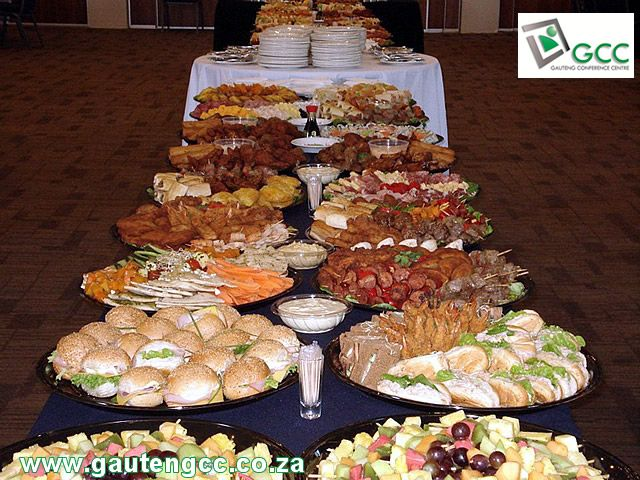 Snack Platters prepared by GCC's caterers.