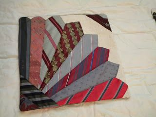 neck tie pillow cover