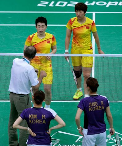 8 female badminton doubles players have been disqualified from the London Olympics after trying to lose matches to receive a more favorable place in the field. ...... LOL throwing matches