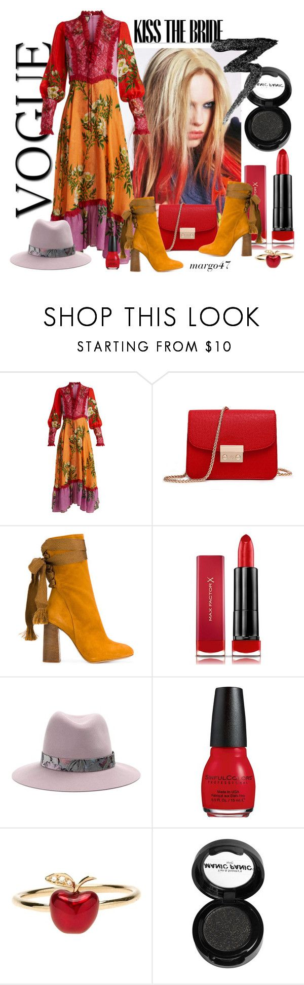 """kwiatowy look"" by margo47 ❤ liked on Polyvore featuring Libertine, Gucci, Chloé, Max Factor, rag & bone, Alix, Alison Lou and Manic Panic NYC"