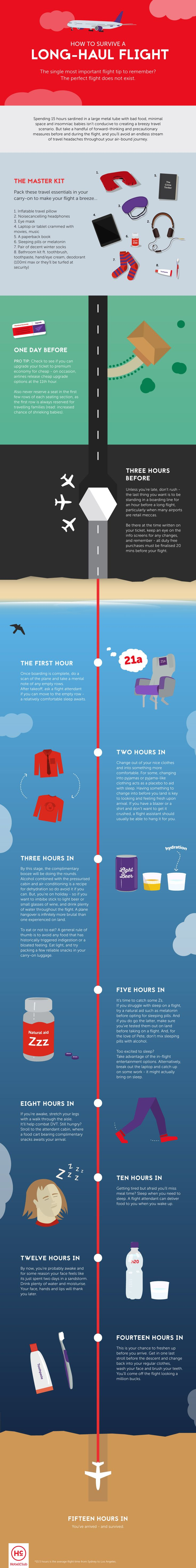 How to Survive a Long-Haul Flight [Infographic]